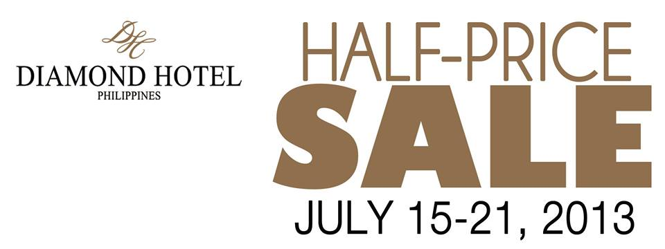 out Diamond Hotel's Half-Price SALE which runs until July 21, 2013