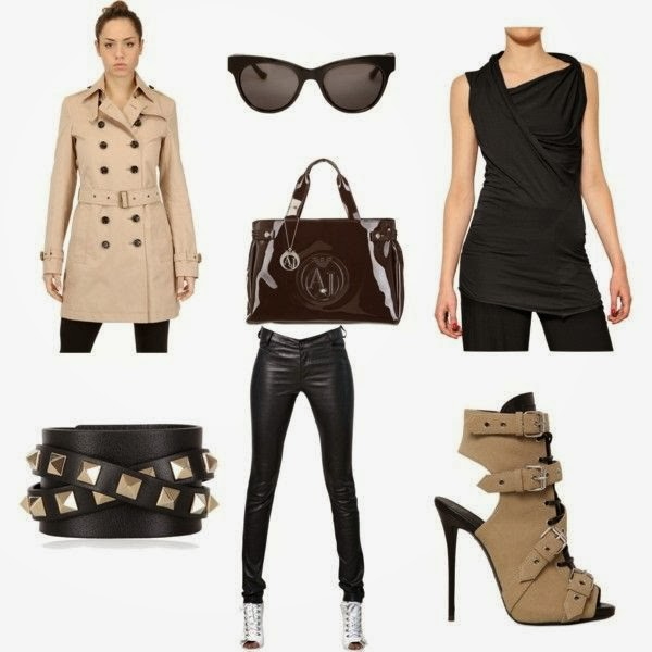safari outfit, adventures outfit, ootd, wednesday wishlist, wishlist, heels, coat, trench, leather pants, sun glasses, bag,