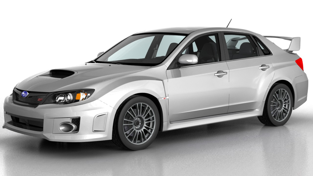 motoring art subaru wrx sti sedan 2011. Black Bedroom Furniture Sets. Home Design Ideas