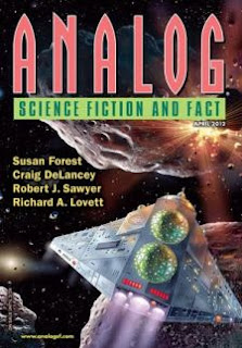 Cover of the magazine Analog Science Fiction and Fact, April 2012 issue