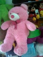gambar boneka beruang besar pink