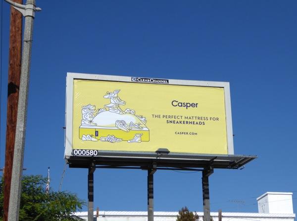 Casper sneakerheads mattress billboard