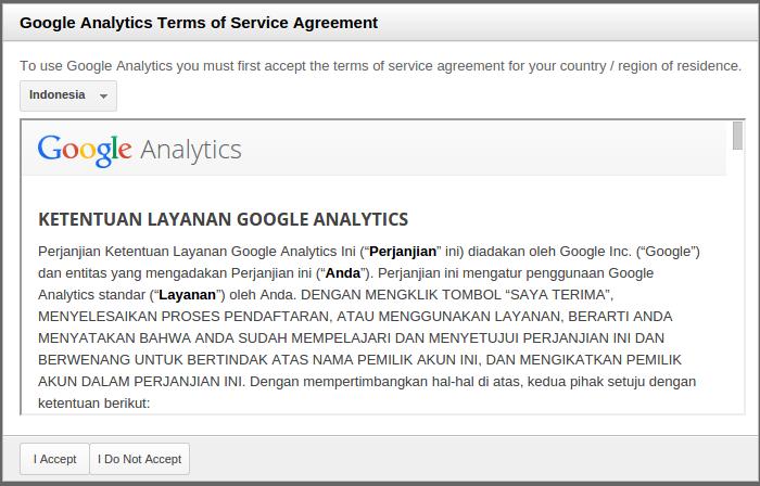 ketentuan-tos google analytics