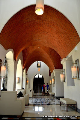 Brick-dome ceiling at The Cove Rotana