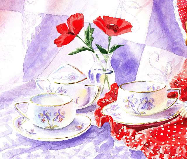 orchid teacup