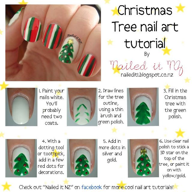 Christmas Nail Art For Short Nails: Nail Art For Short Nails #4