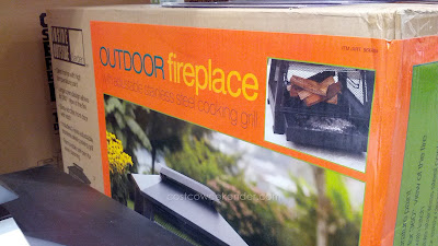 Stay warm with the Inside Outside Garden Outdoor Fireplace