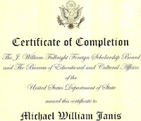Michael Janis Fulbright Scholar
