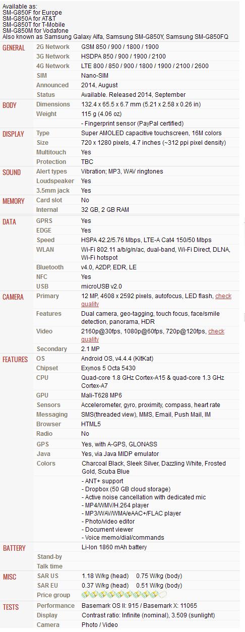 Samsung Galaxy f Series Price Samsung Galaxy Alpha Price in