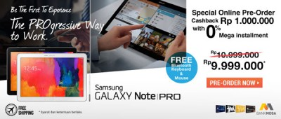 Asiik, Samsung Galaxy Note Pro Sudah Bisa Dipesan