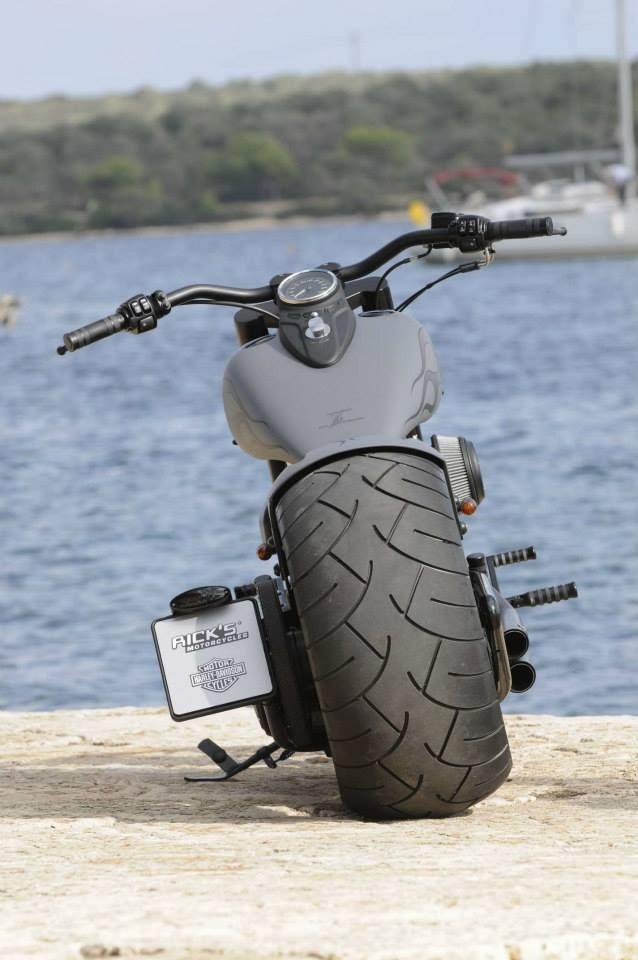 Racing Caf    Harley     Ex    Cross Bones  by Rick s Motorcycles