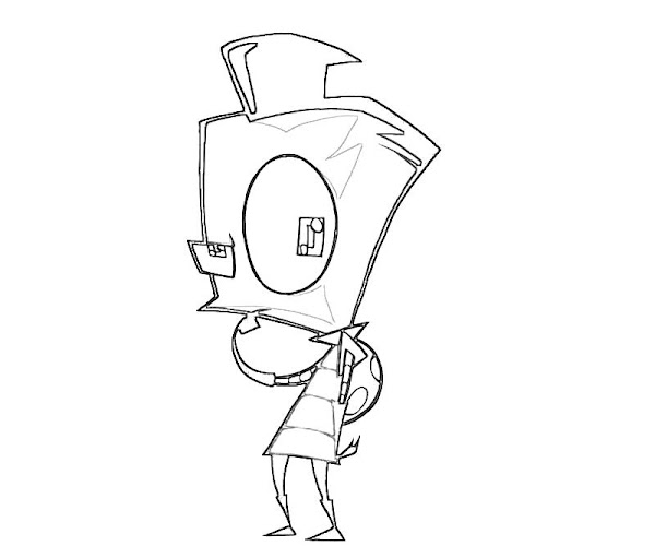 Invader Zim Cartoon Characters Coloring Pages