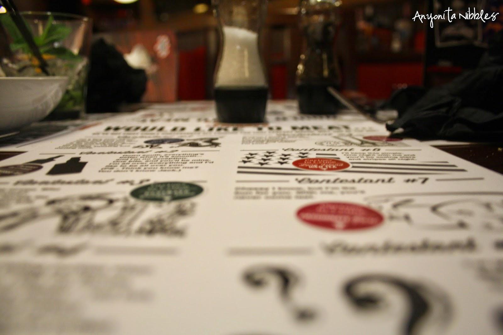 TGI Friday's Burger Blind Date Menu
