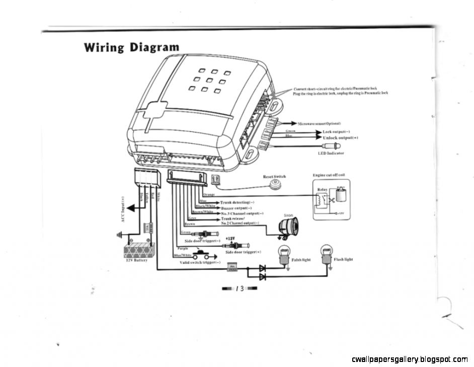 Wiring diagram for prestige car alarm powerking
