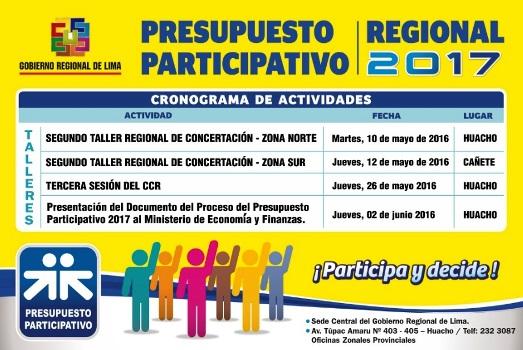 Presupuesto Participativo Regional 2017
