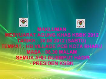 MESYUARAT AGUNG KHAS KSBK 2012