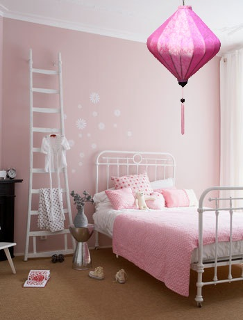 Roze hanglamp voor kinderkamer - Roze kinderkamer ...
