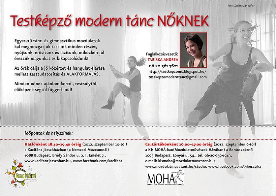 Testképző Modern tánc NŐKNEK