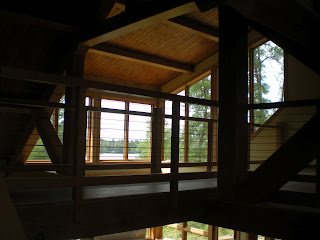 douglas fir and cable railing timber frame huismanconcepts