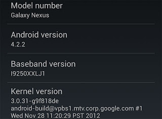Android 4.2.2 update to Nexus 4, Nexus 7 and Nexus 10