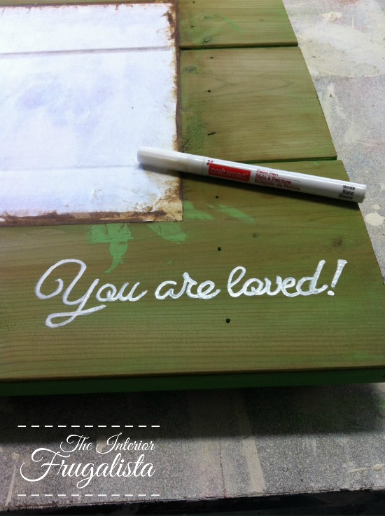 Painting over a transfer onto wood