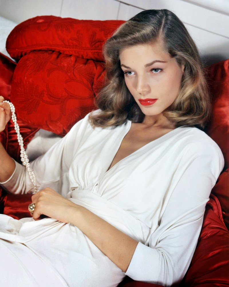 1940s style icon Lauren Bacall, inspiration for my Vintage wedding dresses