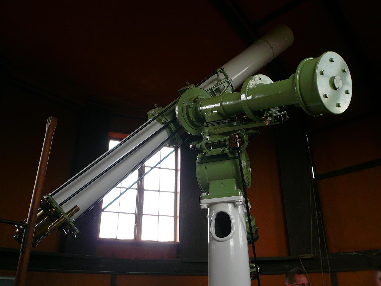 une lunette astronomique