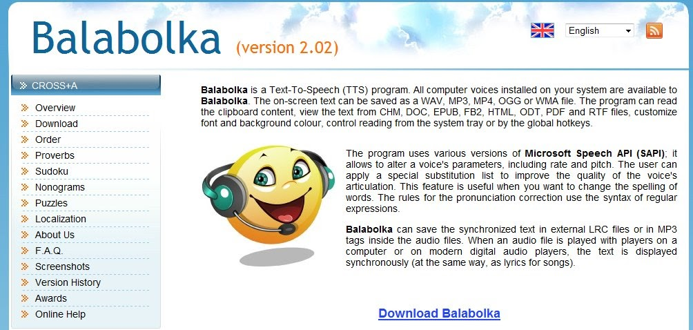 Dyslexia Untied: Balabolka Text-to-Speech - Free download