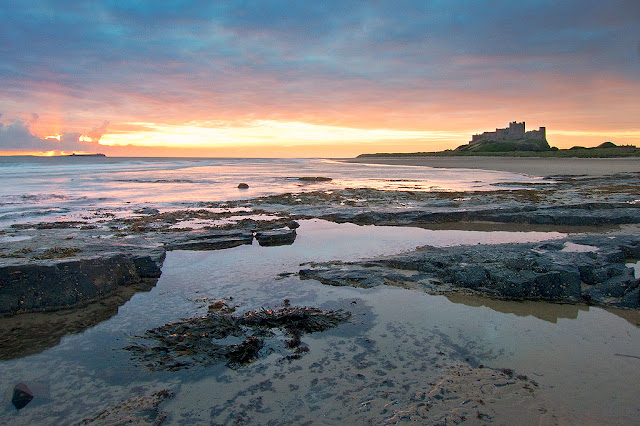 Sunrise at Bamburgh Castle - Northumbreland. One of the best photos & best views.