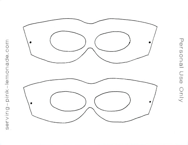 Superhero Mask Template