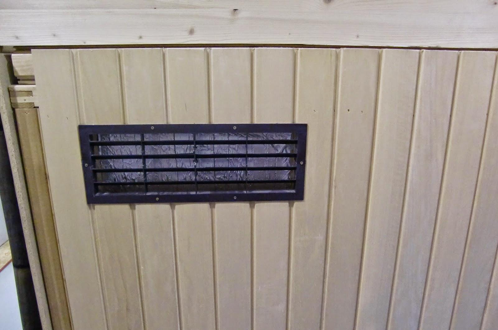 Lüftungsgitter für die Sauna
