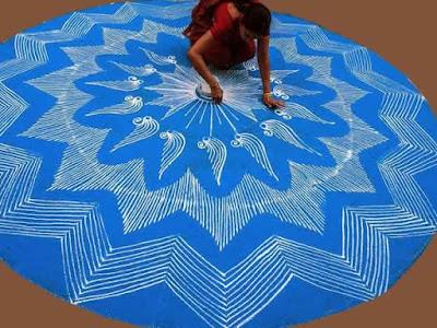 Rangoli. Dibujos en el suelo