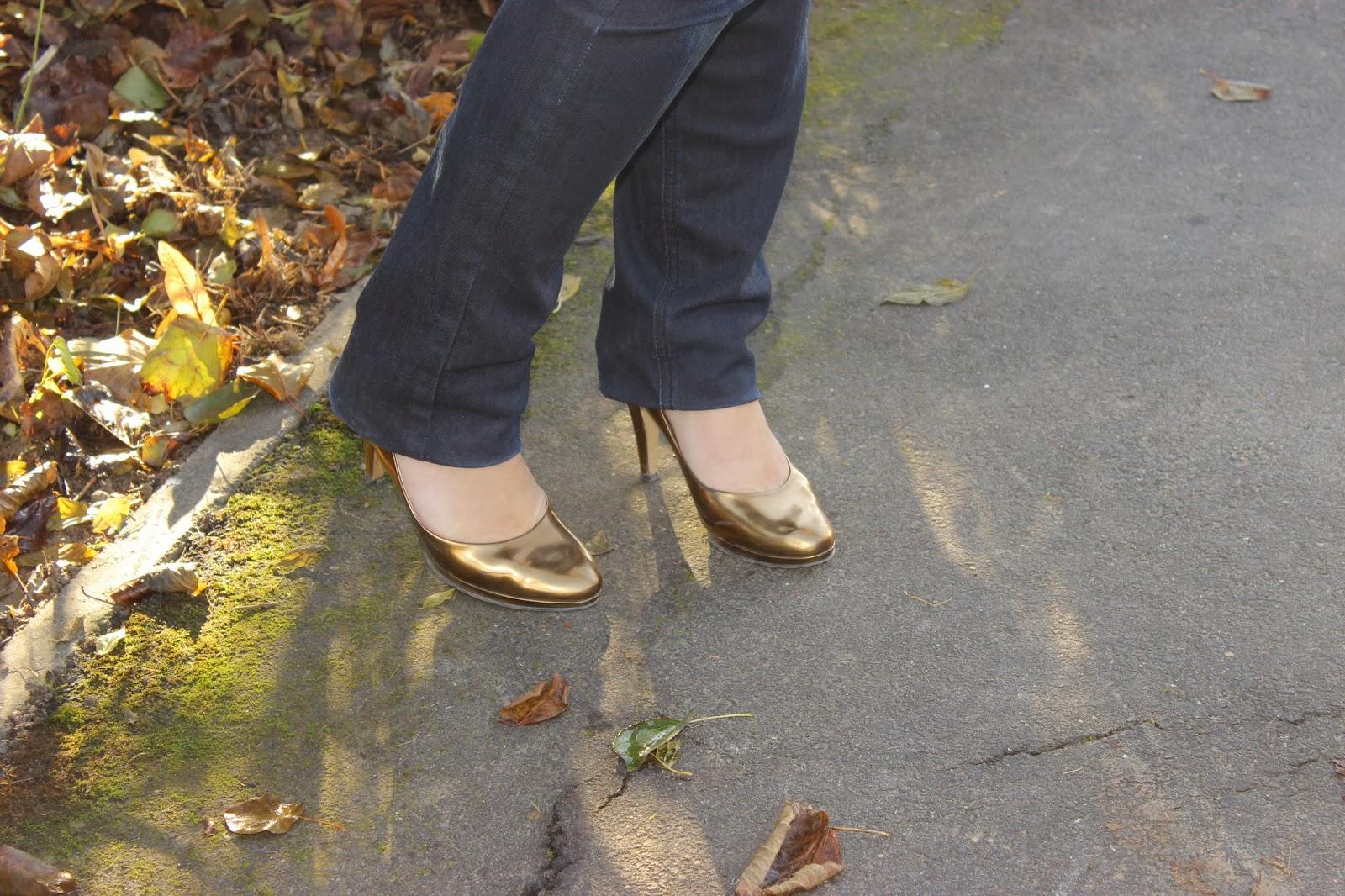 Manchette dorée- Styles et Bijoux - pull naf naf