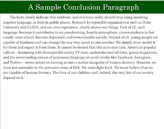 How should I create a conclusion for a persuasive essay?