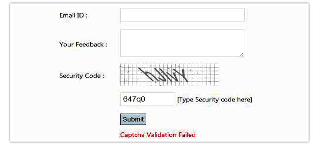 How to implement simple Captcha in  MVC4 application