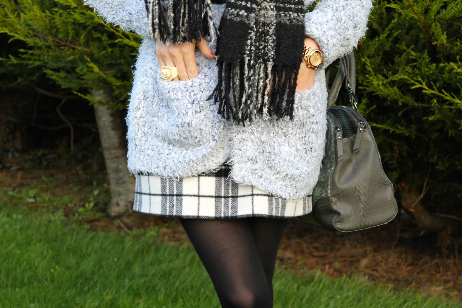 Bec boop tartan skirt detail