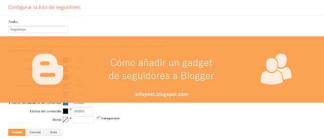 Cómo añadir un gadget de seguidores a Blogger