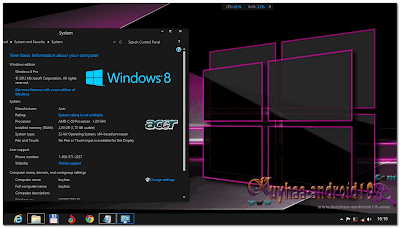 THEME WINDOWS 8 REFLECTIONS DARK AND LIGHT COOL
