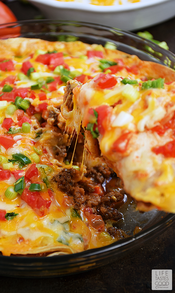 Easy Taco Pie Recipe | Life Tastes Good