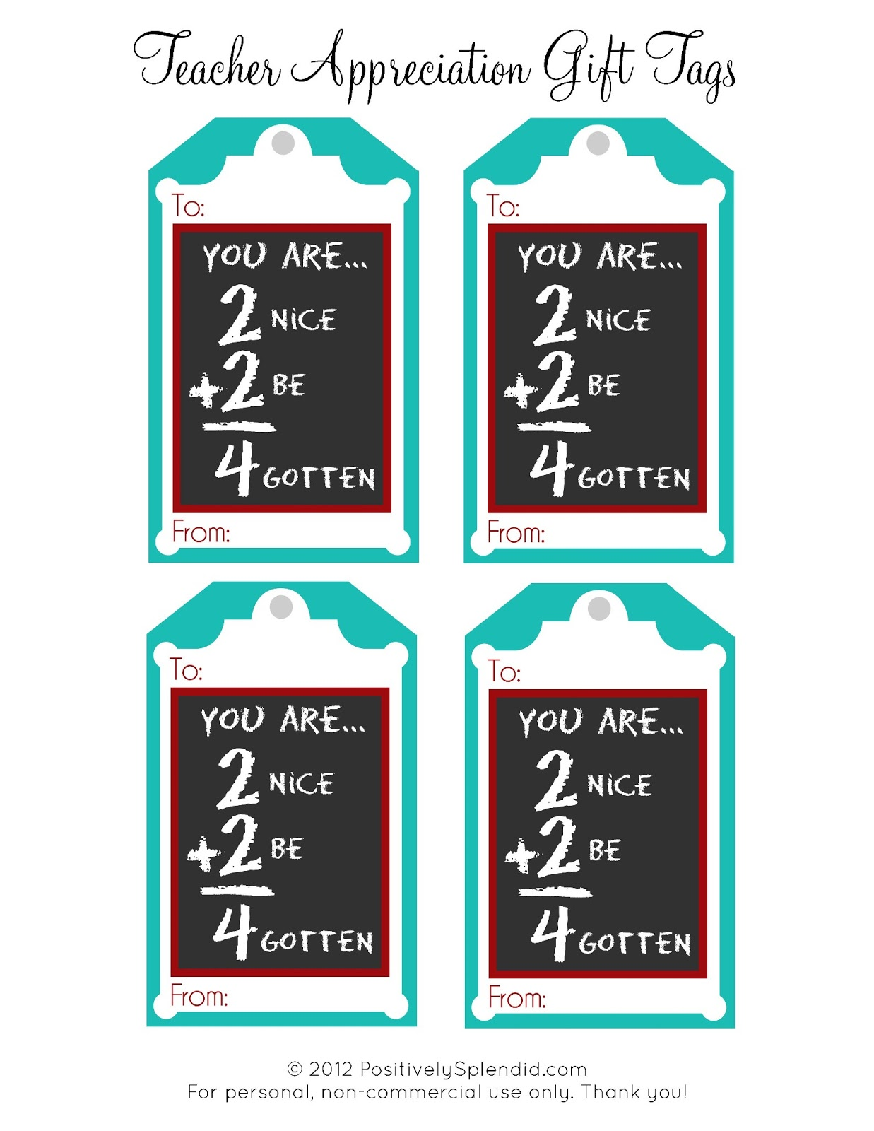 Versatile image regarding free printable teacher appreciation gift tags