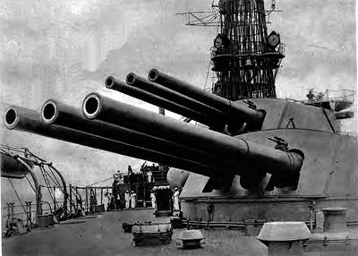Bentuk kubah meriam 152mm yang asli pada KRI Irian