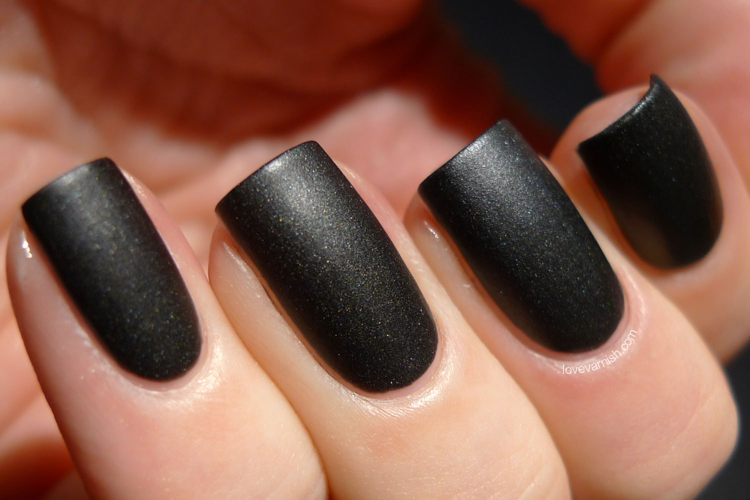 OPI 4 In The Morning black satin finish Gwen Stefani collection