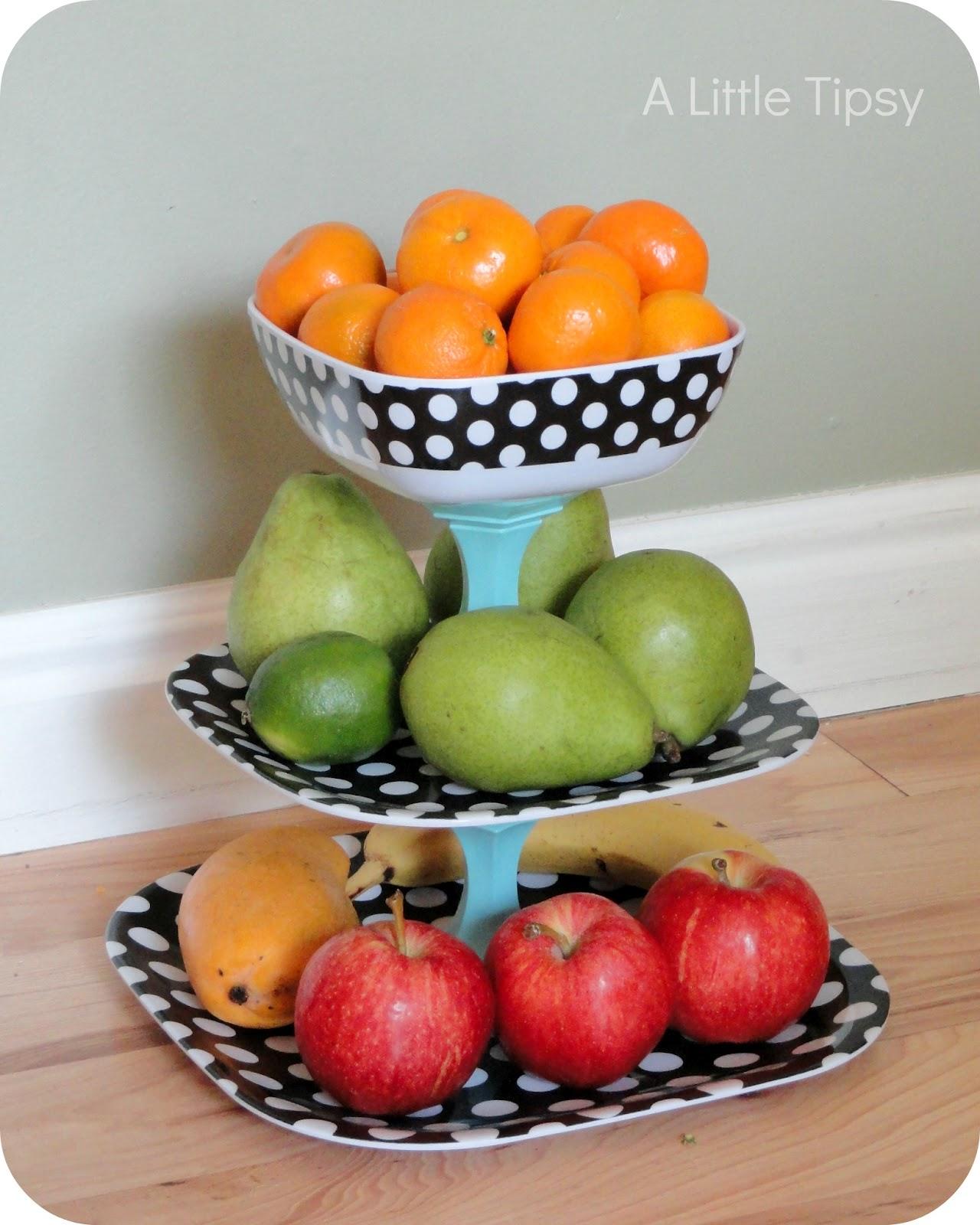 Polka Dot Fruit Stand A Little Tipsy