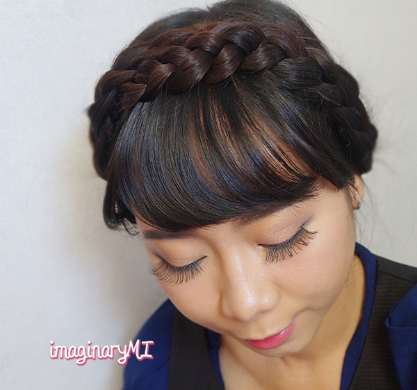 Beauty blogger Indonesia Raden Ayu milkmaid hair tutorial