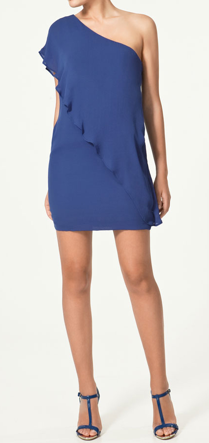 vestidos asimétricos Zara