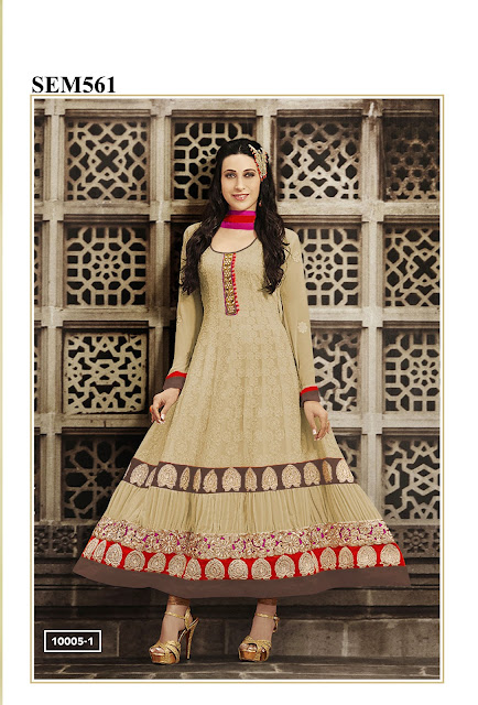 Karishma Kapoor Pure Georgette Long Anarkali Suit