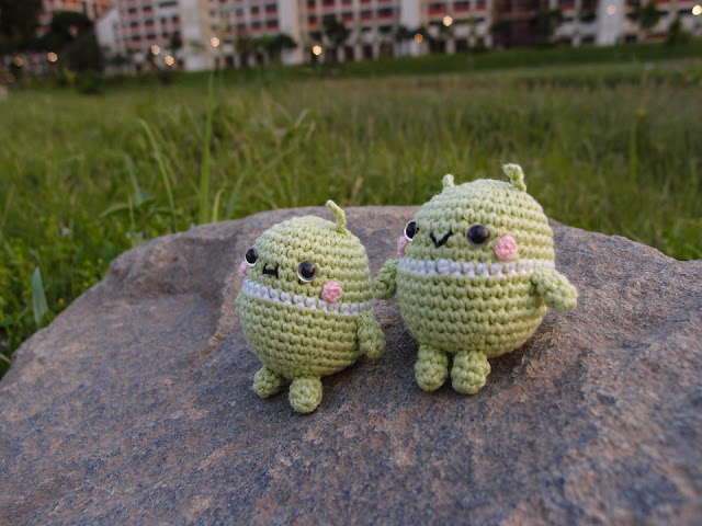 Crocheted Android Robot amigurumi