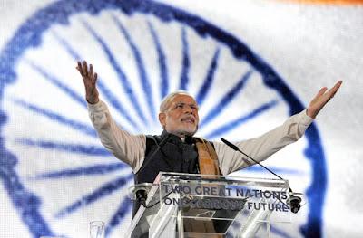 Narendra Modi  at Wembley Stadium, in London