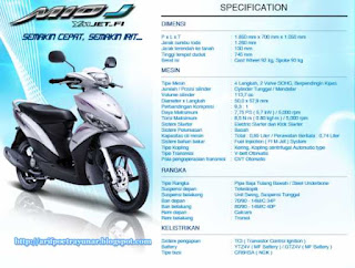 Spesifikasi Motor Matic Injeksi Yamaha Mio J | Free Download Software