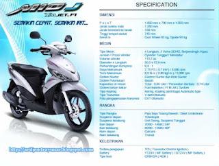 Spesifikasi Motor Matic Injeksi Yamaha Mio J
